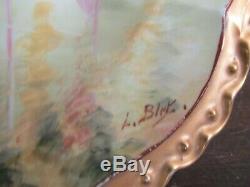 JPL Jean Pouyat Limoges France Hand Painted Fish Platter Signed L. Bipe 16