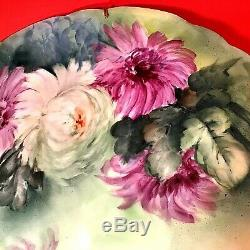Jean Pouyat Limoges France Cabinet Plate 11 5/8 Hand Painted Signed 1890-1932