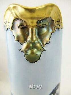 Jean Pouyat Limoges (jpl) Handpainted Pitcher- Dragon Pirate Head- Ravens 11