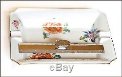 Limoge Made In France Flowers Hand Painted Details Ashtray Plate
