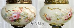 Limoges Banquet Lamp Signed Hand Painted Working Antique New Rochester Burner