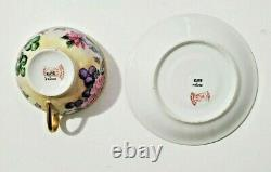 Limoges Cup and Saucer Hand Painted with Roses and Signed