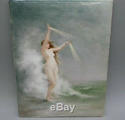 Limoges Elite Hand Painted Antique c. 1899 Nude Woman Artist signed Plaque KPM