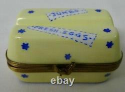 Limoges France Box Eximious Egg Carton Box Jumbo Fresh Eggs Peint Main