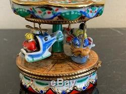 Limoges France Hand Painted Merry Go Round or Carousel Trinket Box