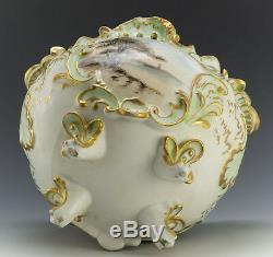 Limoges France Hand Painted Rare Jardiniere Vase