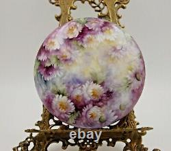 Limoges Hand Painted Flowers Powder Jar Dresser Box