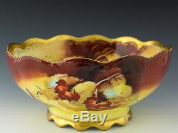 Limoges Hand Painted Pickard Autumn Currants Pitcher Artist Signed Rean