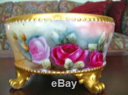 Limoges Hand Painted Roses Ferner
