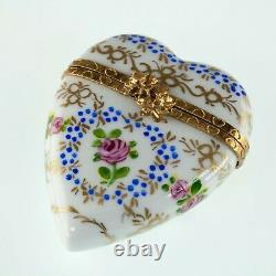 Limoges Peint Main Hand-Painted Porcelain Trinket Box