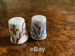 Limoges Roses & Ribbons Hand Painted & Signed Thimble