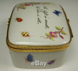 Limoges Tiffany & Co Le Tallec Private Stock Hand Painted Butterfly Insects Box