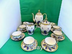 Limoges U. C Tea Set Hand Painted