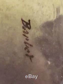 Limoges coronet france grape fruit 10 handpainted charger plate signed Barbet