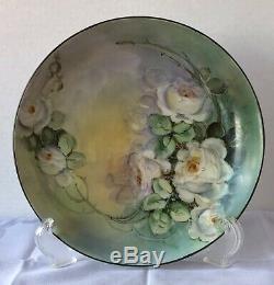Lovely Antique Mavaleix Limoges Porcelain Plate, Hand-Painted, 1908-1914, Scarce