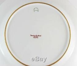 Mint Set(s) 4 Dinner Plates Haviland Limoges Turquoise Gold Encrusted Flowers