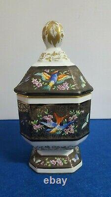 Rare Antique Handpainted Porcelain France Apothecary Jar Le Tallec Signed