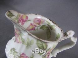 Rare Antique Haviland Limoges Hand Painted Baltimore Rose Creamer Gold Gilt