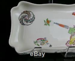 Rare Haviland Porcelain Footed Bowl Hand Painted Japanese Geisha Girl Motif