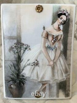 Rare Limoges Porcelain/charger/painting/ Plaque Romantic Ballerina Hand Painted
