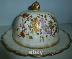 Rare M. Redon Limoges Porcelain France Hand Painted Coverd Cheese