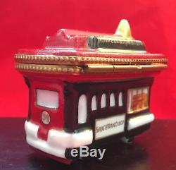 Rare San Francisco Cable Car Limoges Box by Rochard, hand-painted fine porcelain