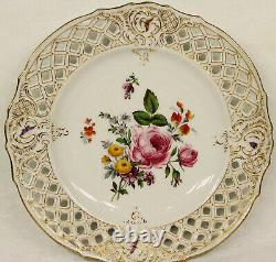 Set of 12 Antique Porcelain Hand Painted Plates Gilman Collamore & Co New York