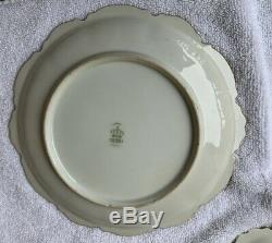 Set of 6 ANTIQUE LIMOGES France Handpainted Game Plates Sgn. NORYS
