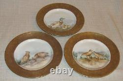 Set of 6 PL Limoges Hand Painted Bread Plates with Birds