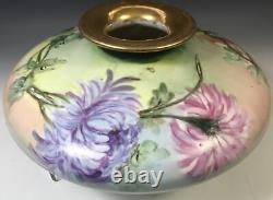 Squat Vase Hand Painted