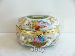 Superb Vintage Le Tallec Paris Limoges Gold Handpainted Trinket Jewelry Box (#4)