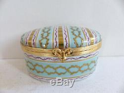 Superb Vintage Le Tallec Paris Limoges Gold Handpainted Trinket Jewelry Box (#5)