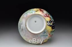 T&V Limoges Porcelain Punch Bowl Hand Painted Artist Signed JL Appenzeller