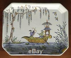 Tiffany & Co Hand Painted Pagoda Chinois Porcelain China Tray Limoges France