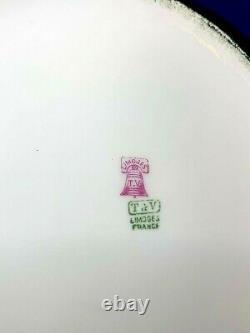 Tresseman & Vogt T&V Limoges China hand painted artist signed large Rose pitcher