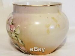 Vintage Antique JPL France Jardiniere Floral Hand Painted LeFort Bowl