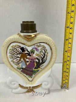 Vintage Lampe Berger Limoges Couleuvre Painted and Signed by Jean Tillaud 1940s
