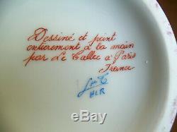 Vintage Le Tallec Paris Handpainted Limoges Porcelain Ginger Jar
