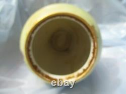 Vintage Limoge Hand Ptd. Porcelain Vase Purple Violets & Gold 9-1/2 x 6 Pre Own