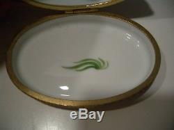 Vintage Limoges France Hand Painted For Tiffany & Co Duck Porcelain Trinket Box