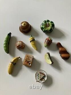 Vintage Limoges France Peint Main Porcelain Vegetable Trinket Box Yellow Pepper