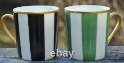 `new Pair Of Handpainted Marie Daage De Limoges France Espresso/demitasse Cups