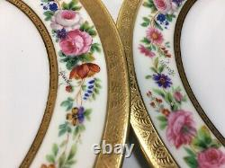 (12) C. Ahrenfeldt 8.75 Pouces Handpainted Signed Gold Incrusted Plates-ovington's
