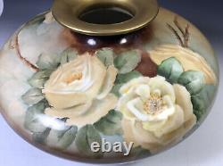12 Roses Peintes À La Main De Vase De Squat