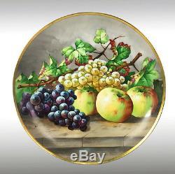 13.6 ' ' Chargeurs Limoges France / Assiettes Avec Les Fruits Peints À La Main, 1903-1917