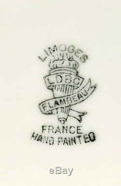 21 Antique Superb Limoges Peinte À La Main Turquie Platter / Microplaques Sc-13