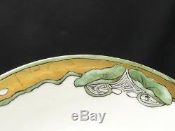 6x Art Deco Jean Pouyat J. P. Limoges Assiettes Peintes A La Main D'oeuvre Rare