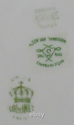 (7) Antique Coronet Limoges Plaques De Poisson En Porcelaine Peintes À La Main