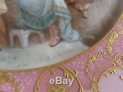 Ancienne Armoire Roses Signée Soustre Haviland Limoges Peint À La Main Pour Mesdames