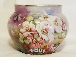 Anciennes Jpl France Jardinière Floral Peint À La Main Lefort Bowl